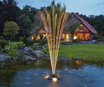 Tvenkinių fontanai ir apšvietimas;
