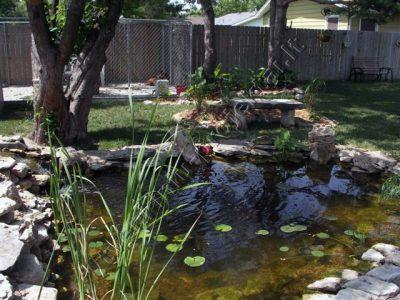 Dirbtinis baseinėlis sode